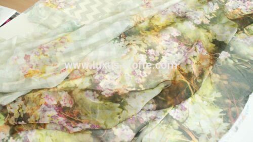 Stoff Bedruckter Blumen Chiffon Kleiderstoff weicher Blumen Stoff KT55