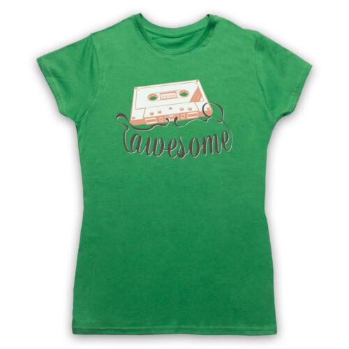 CASSETTE TAPE Awesome texte Rétro Vintage Cool Musique Hommes Femmes Enfants T-Shirt