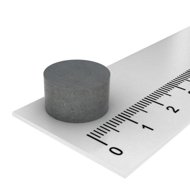 10x FERRIT SCHEIBENMAGNET 12 x 3 mm HOCHTEMPERATUR MAGNET BIS 250°C