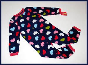 f6fc90e25 NWT Carter s Girls Pajamas Navy Blue Hearts Fleece Sleeper Hearts ...