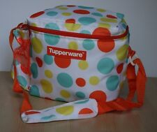 Tupperware Lunch Bag w/Shoulder Strap White/Dots  New