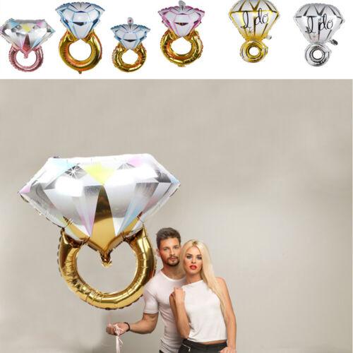 Gold Crown Diamond Ring Foil Balloon Wedding Birthday Party Decor Props Supplies