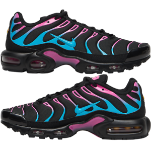 Details zu Nike Air Max Plus Miami Vice Sneakers Men's Lifestyle Comfy Shoes BlackFuchsia