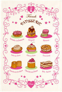 Torchons-amp-Bouchons-French-Pastries-Chocolate-Macaron-Cake-Dish-Kitchen-Towel