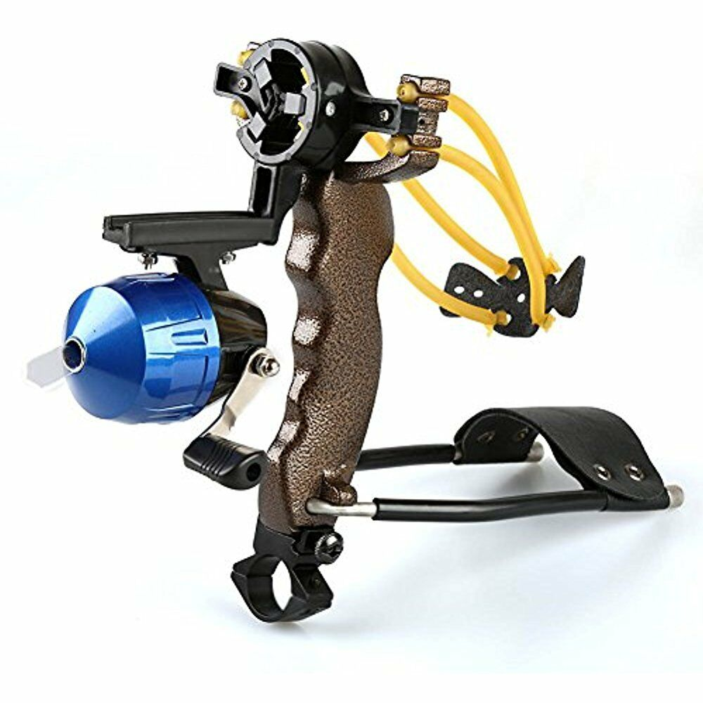 High Velocity Hunting Fishing Slingbow Wrist Slingshot Arrow Rest Catapult By