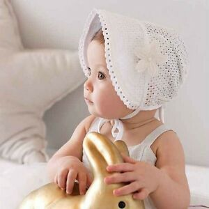 Toddler Baby Girl Flower Princess Cotton Bucket Sun Hat Summer Beach Bonnet Cap