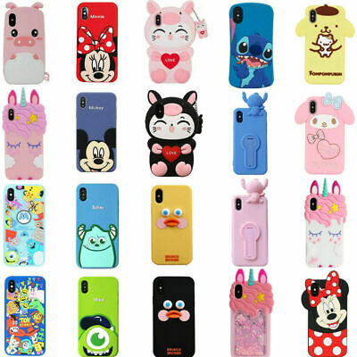 3d Cartoon Silicone Kid Case For Iphone Xs Xr Xs Max 8 7 6 6s Plus 11 11 Pro Max Ebay