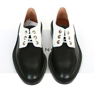 Details about GIVENCHY PARIS  950 black and white studded oxford derby dress  shoes 34.5 NEW 897cc2e6e7ee