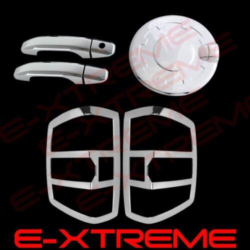 For 14-16 Silverado Chrome Cover 2 Door Handle W//O PSK+Tail Light Bezel+Gas Door