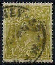 Australia 1931-6 SG#129, 4d Yellow-Olive KGV Used #D48518