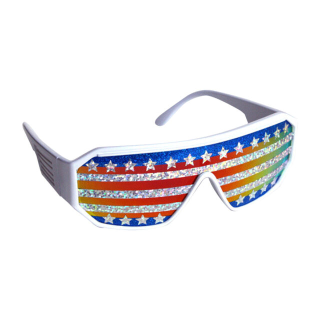 d4d53b2f072 Macho Man American Flag Sunglasses Randy Savage Costume Wrestler ...