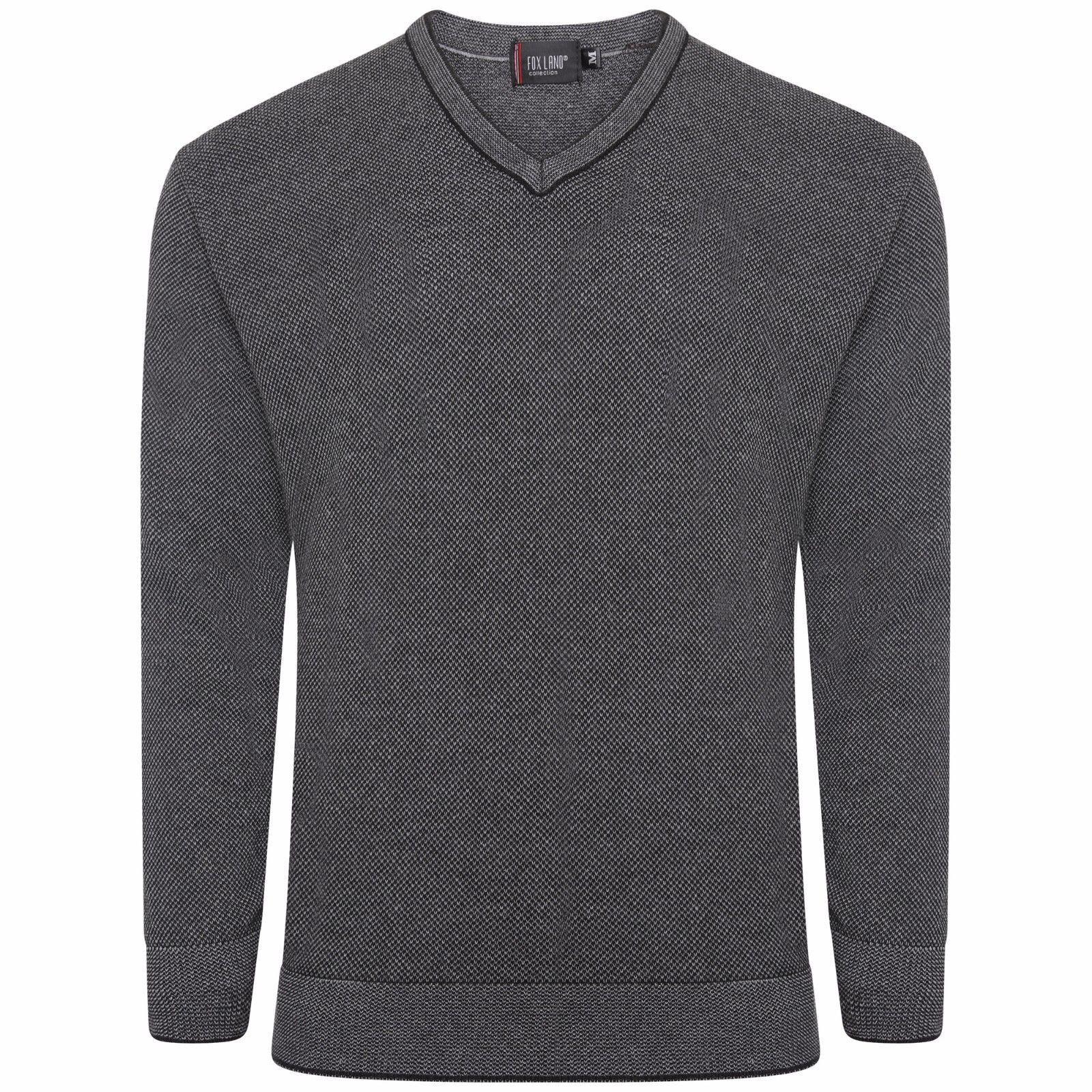 Charcoal / V-Neck Sweatshirt Uniform Knit Wear UK