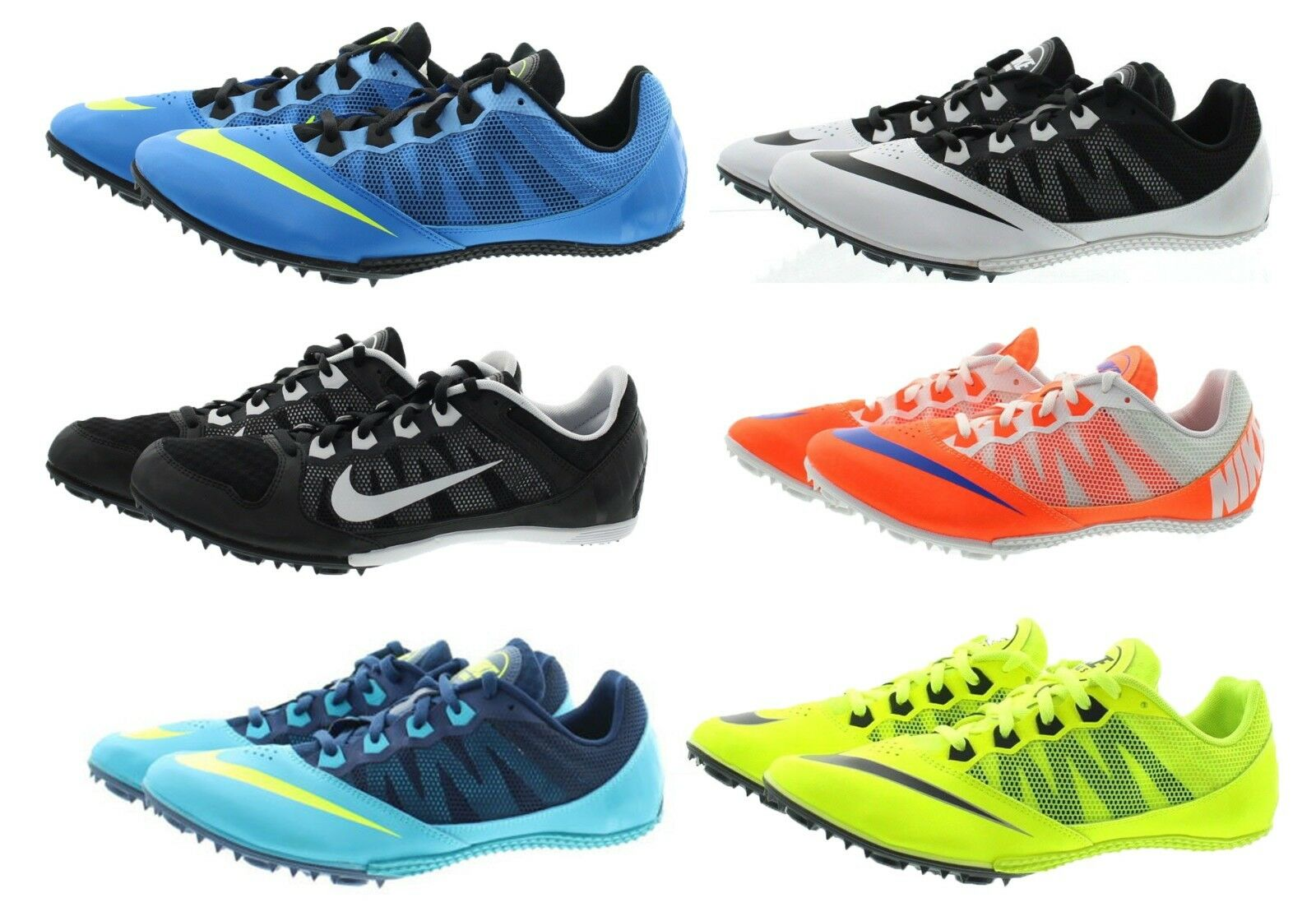 Nike 616313 Men's Zoom Rival S 7 Track Field Spikes Racing Sprinting Cleats