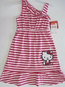 f333fa863412 Girls Hello Kitty Maxi Dress Striped Size 4 5 6 6x