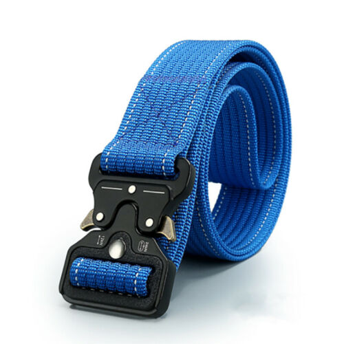 Men/'s Tactical Belt Heavy Duty Webbing Belt Adjustable Military Style Nylon Belt