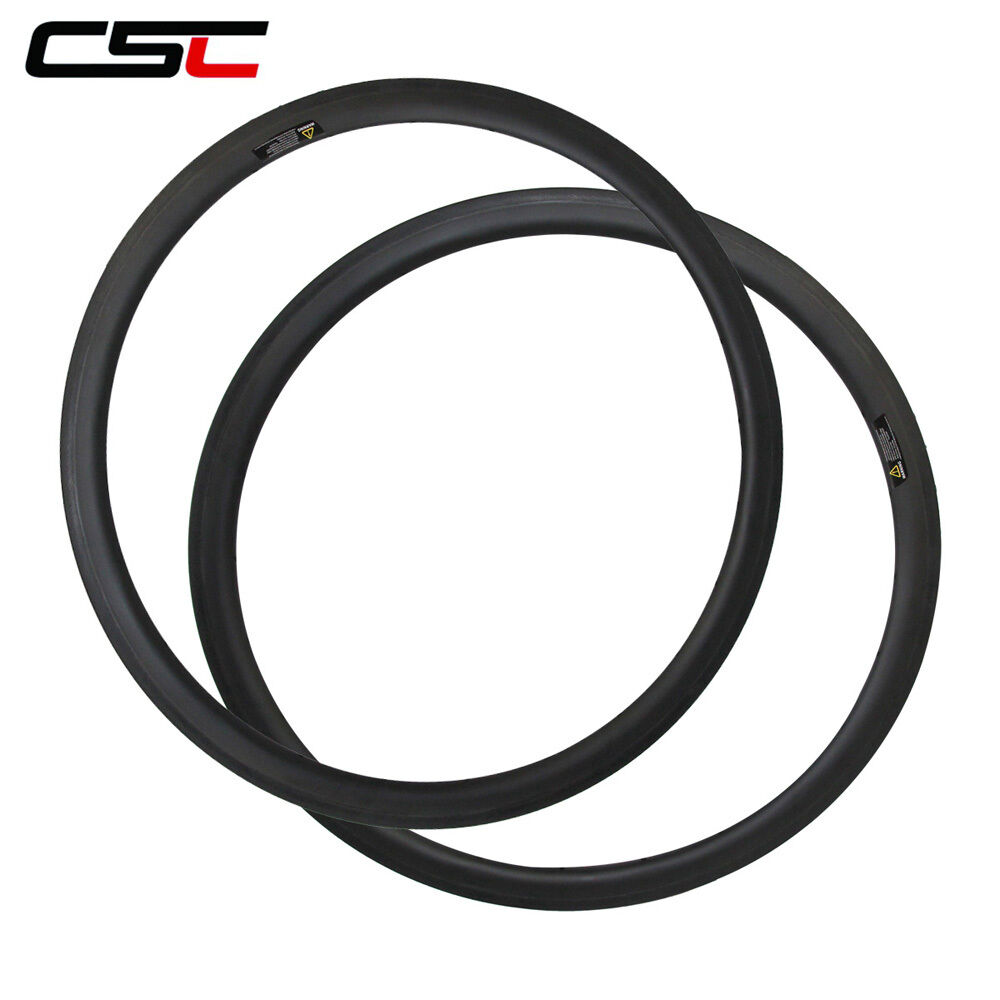 CSC  700C Tubeless compatible 25mm width  38mm Clincher carbon road bicycle rim