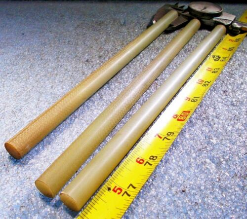 "GAROLITE G-10//FR4 GLASS EPOXY FIBERGLASS ROUND ROD 1//2/"" Dia X 10/"" Long 3 PIECES"