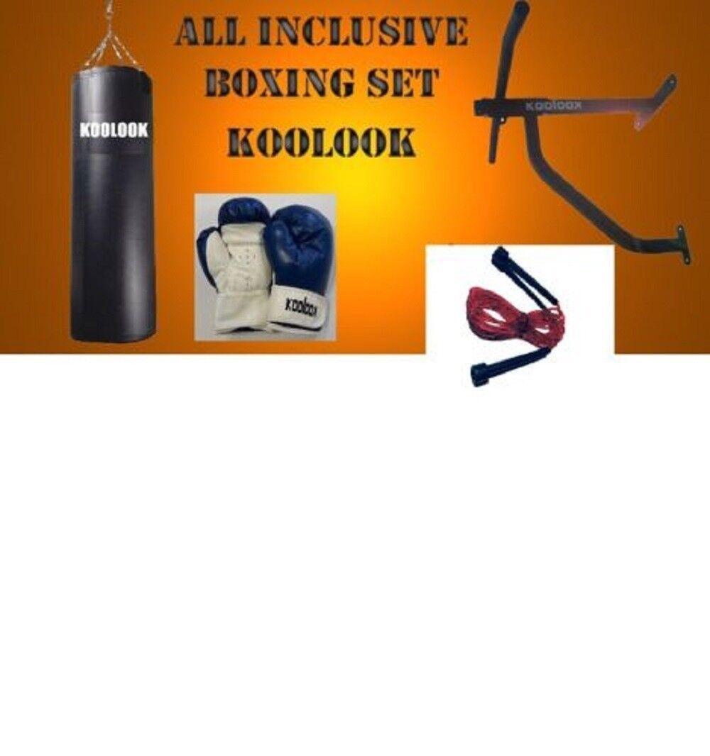 KOOLOOK SACCO BOXE PIENO/ KIT COMPLETO SACCO KG 30 STRONG+ GUANTINI +STRUTTURA