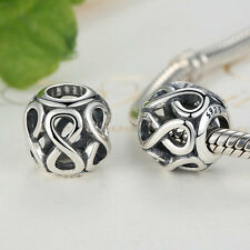 925 Sterling Silver INFINITE SHINE Charms Fit European Safety Chain DIY Original