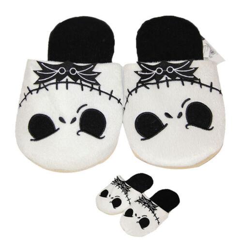 The Nightmare Before Christmas Jack Skellington Soft Plush White Slippers Hot