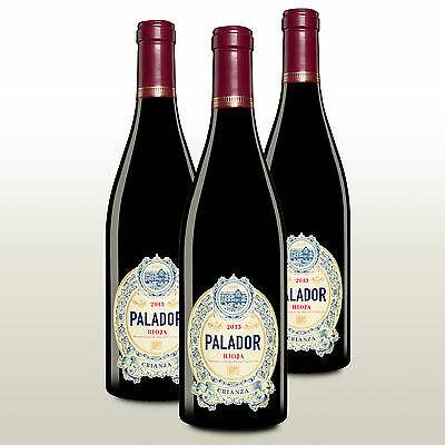 3 Fl. Palador Crianza 2013, Rioja Crianza, Rotwein trocken aus Spanien, Barrique