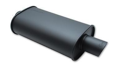 """Vibrant Inoxydable Noir streetpower plat ovale unique Outlet 2.5/"""" silencieux d/'admission"""
