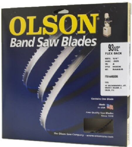 "10 TPI Olson Band Saw Blade 3//16/"" Wide x 80/"" Long"