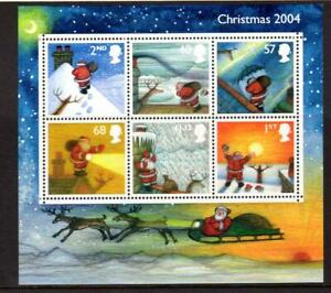 2004-GB-CHRISTMAS-Miniature-Sheet-MS2501-MNH-Minisheet-UMM
