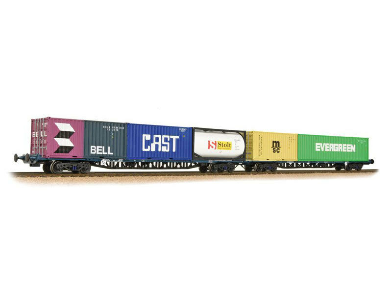 Bachmann - 38-627 Wagons FFA BR Freightliner Outer Container Flat Maritime