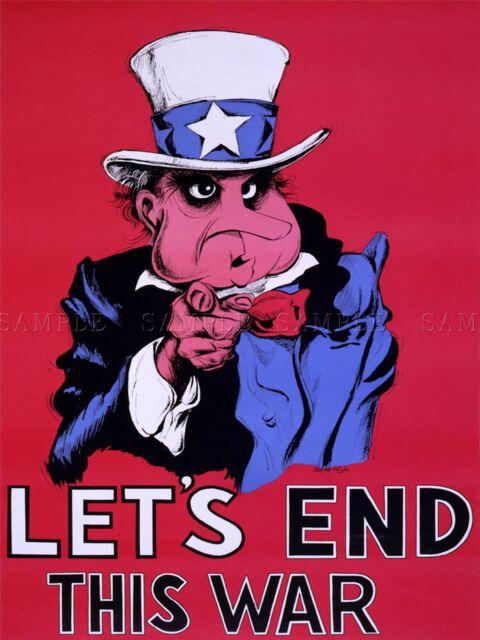 PROPAGANDA POLITICAL SATIRE UNCLE SAM VIETNAM WAR USA POSTER ART PRINT BB2667A