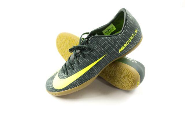 eb55b1f87bd4 Nike MercurialX Victory VI CR7 IC Indoor Soccer Seaweed Volt SZ 11.5  852526-376