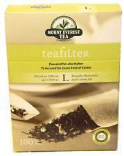 100 Papierfilter mit Bodenfalte - Teefilter Papier - Filter Tee