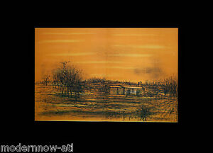 Jean-CARZOU-Lithograph-ORIGINAL-LIMITED-EDITION-034-La-Petite-Chapelle-034-FRAMING
