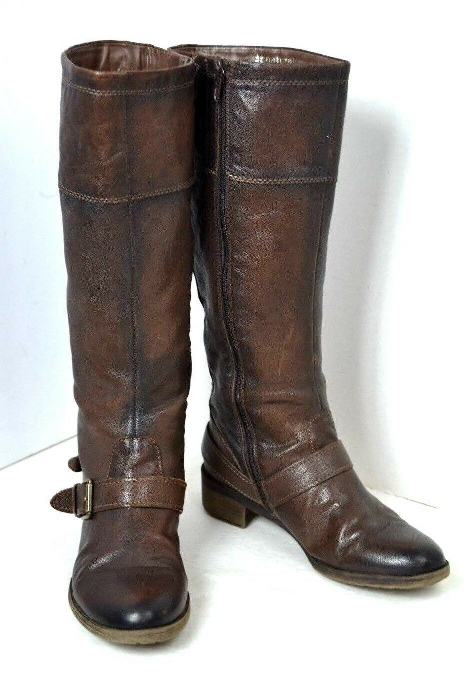 NATURALIZER BROWN GENUINE LEATHER BOOTS SIZE 9.5 M