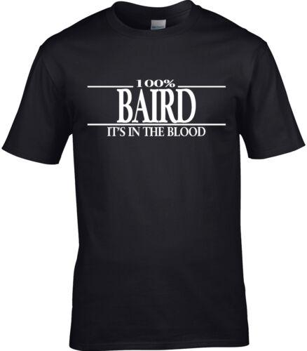Baird Surname Mens T-Shirt 100/% Gift Name Family Cool Fun