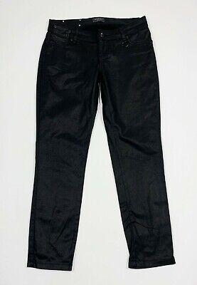 Fiducioso Motivi Jeans Donna Usato Nero Lucido W28 Tg 42 Slim Skinny Fit Stretch T5489 Rendere Le Cose Convenienti Per Le Persone