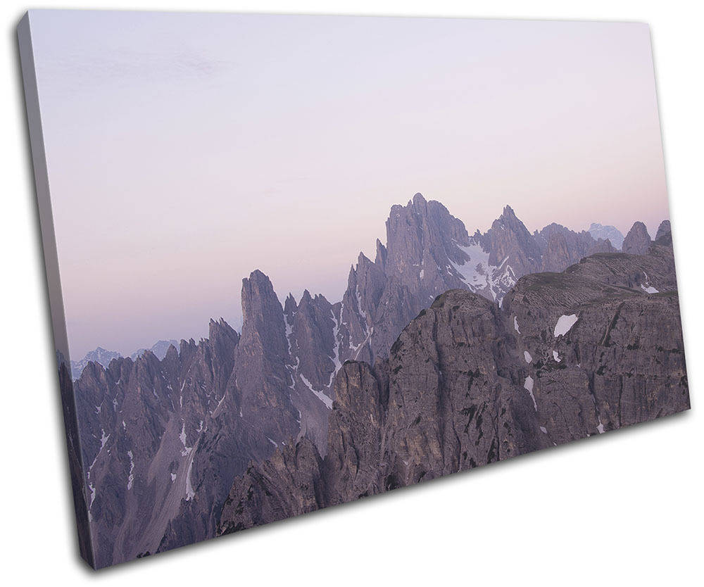 Mountains Sunset Landscapes SINGLE TOILE murale ART Photo Print