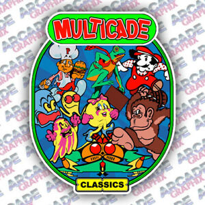 Multicade Donkey Kong Series Arcade Cabinet Game Graphic