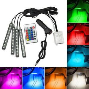 4x-RGB-12LED-Car-Auto-Interior-Neon-Atmosphere-Strip-Light-Music-Remote-vxz