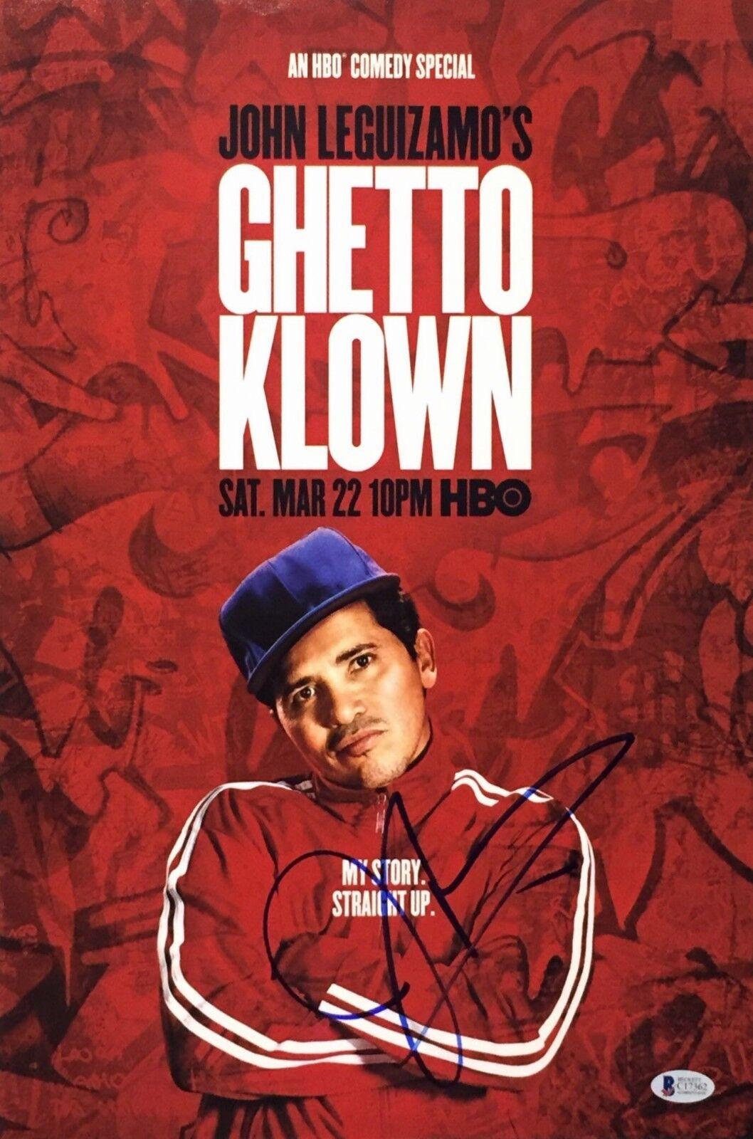 John Leguizamo Signed Ghetto Klown 12x18 Photo *Beckett BAS C17362