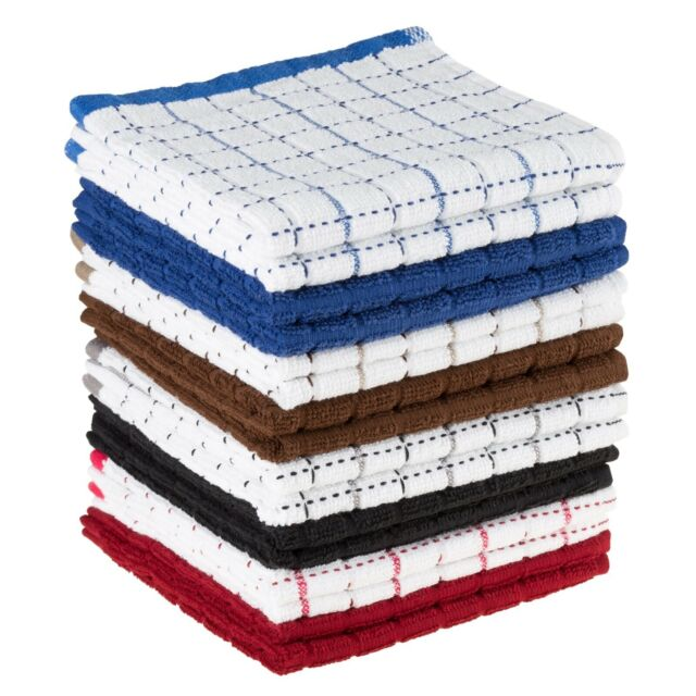 Set Of 16 Wash Dish Cloths Dish Rags Cleaning Clothes Kitchen Absorbent 12 X 12