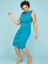 Lane-Bryant-Built-In-Smoothing-Slip-Ruched-Sheath-Dress-18-22-24-26-28-2x-3x-4x thumbnail 3
