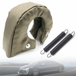 T4 Titanium Turbo Blanket Heat Shield Barrier Turbocharger Cover Wrap Fiber US