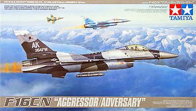 "Tamiya 61106 F-16C/N ""Aggressor/Adversary"" 1/48 scale kit NZA"