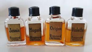 Parfums Fragonard Grasse 4 Antik Miniaturen Jasmin Maiglöckchen Oregano Violett