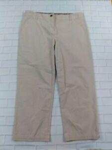 Brooks-Brothers-Khaki-Capri-Pants-Size-8-Womens-Tan-Cropped-Chino-Cotton-Blend