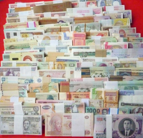 New banknotes 100 Different world paper money collection ,High Quality!