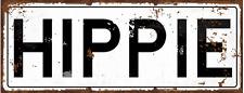 Hippie Metal Street Sign, Boho, Lifestyle, Home Decor