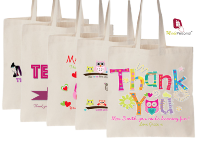 Energico Personalizzata Grazie Maestra Regalo Cotton Tote Bag - 9 Design & Opzioni Di Dimensione 2-mostra Il Titolo Originale