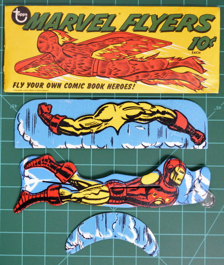 1966 TOPPS MARVEL FLYERS IRON W Paquete Original Rara MAN